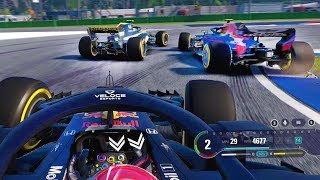 DRAMA IN THE RACE! RED BULL HONDA VS RENAULT HEATS UP! - F1 2018 Career Mode Part 116