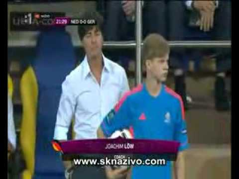 Joachim Low and Ball Boy Euro 2012 - Germany vs Holland