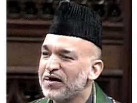 Hamid Karzai pashto speech in kandahar afghanistan