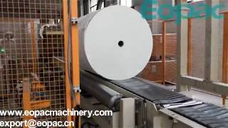 EARH400PPS-ATR(28rpm) High Speed Rotary Arm Wrapper   Paper Roll Wrapping Machine