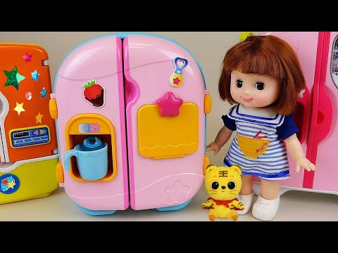 Baby Doll Refrigerator toys and pororo Food toys