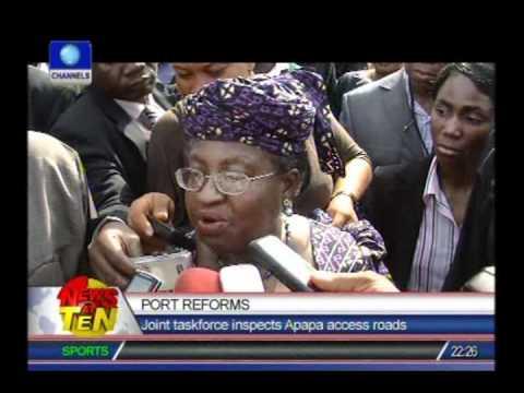 Okonjo-Iweala assures on port reforms on inspection of Apapa ports