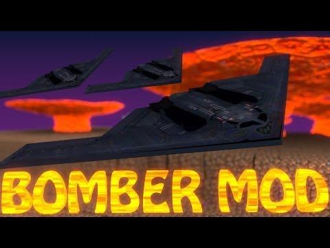 Minecraft   STEALTH BOMBER MOD Showcase (PLANES MOD. FIGHTER JETS MOD. NUKES MOD)