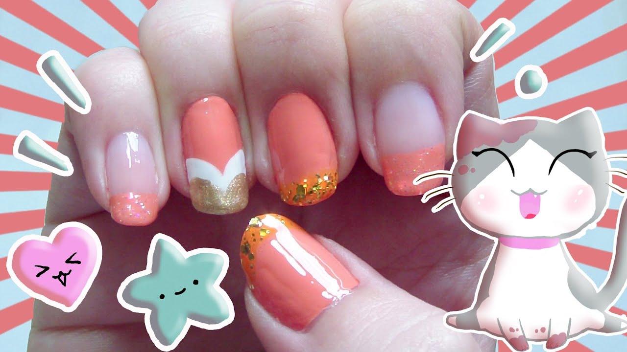 Wallpaper of nail polish on nails