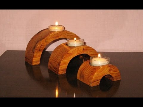 Arch Bridge Candle Holder - woodworking - YouTube
