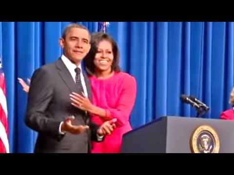 Barack and Michelle Joking Around