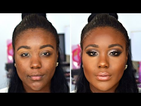COLOR CORRECTION Makeup Tutorial Flawless Foundation routine for DARK SKIN