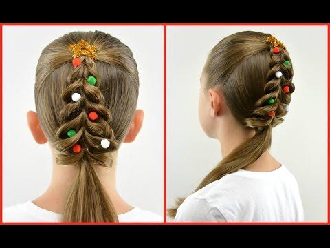 Christmas Tree Pull Through Braid | Christmas Hair | BabesInHairland.com
