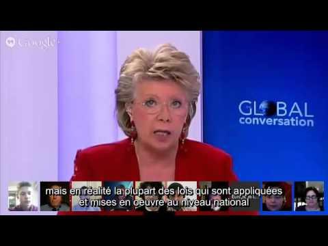 Viviane Reding : 75 à 80% des lois nationales viennent de l'UE (VOSTFR)