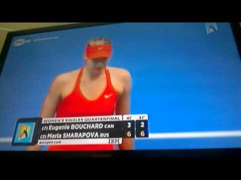 Arrogant Eugenie Bouchard´s cold handshake vs Maria Sharapova-Australian Open 2015