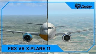 Microsoft Flight Simulator X vs X-Plane 11 (Vanilla, No mods!)
