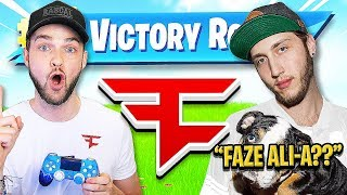 IF YOU WIN FORTNITE, YOU JOIN FAZE *PRANK ON ALI-A*