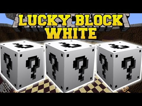 Minecraft: White Lucky Block Mod (evil Villagers, Blaze Apocalypse, & Giant Army) Mod Showcase video