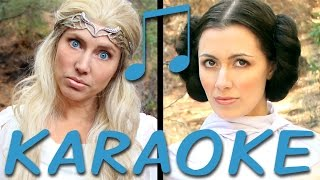GALADRIEL vs LEIA Karaoke (Princess Rap Battle) Instrumental Sing-along