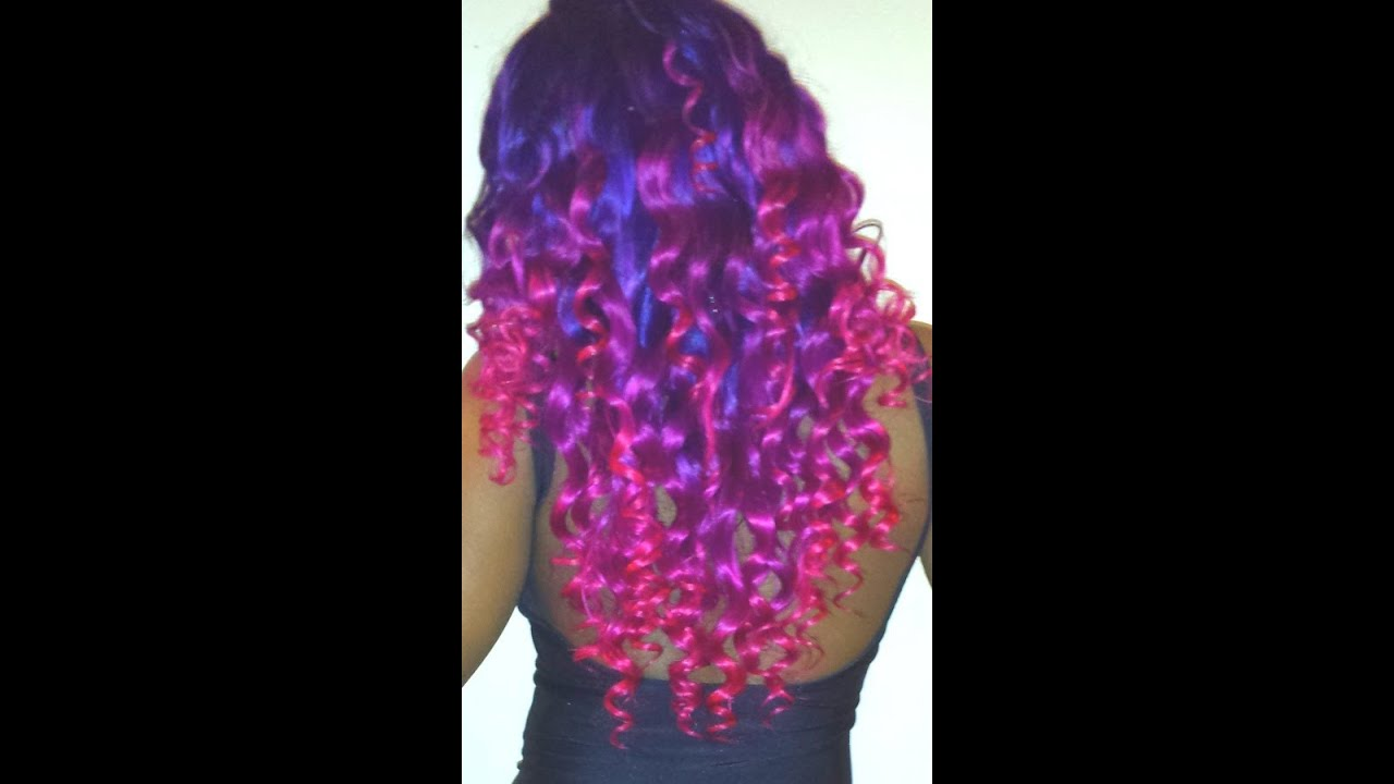 purple and pink ombre how to youtube