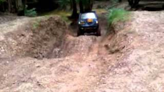 reverse hill climb - Mitsubishi Pajero - off road - brick kiln farm - fourmarks