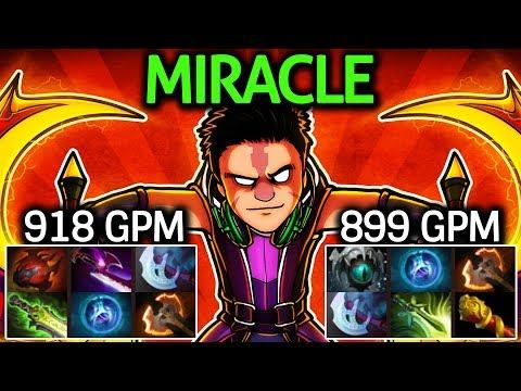 Miracle- Dota 2 [Anti Mage] 2 Game WTF Farming!