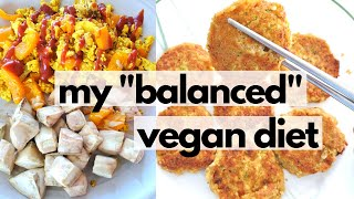 "WHAT I ATE IN A DAY (How I Eat a ""Balanced"" Vegan Diet) // easy vegan meals"