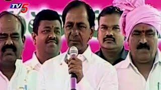 CM KCR Lays Foundation Stone for Double-Bed Room Houses at Raghavapuram