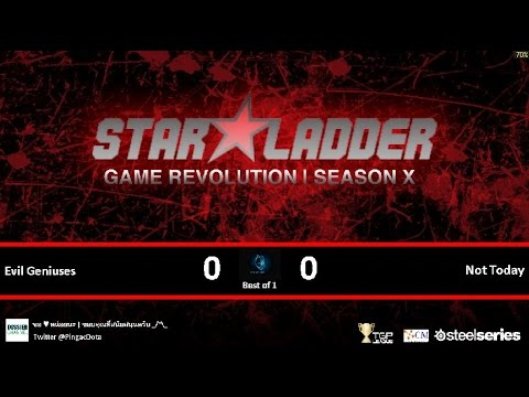 Dota2 - Evil Geniuses vs Not Today [SLTV-X] Caster Pingac