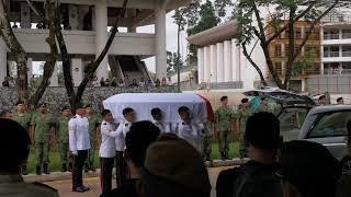 Last Post Ceremony of Aloysius Pang at Mandai Crematorium