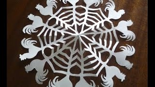 Снежинка. Год петуха. snowflakes.year of the rooster