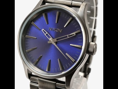 NIXON WATCH A450-2065 SENTRY 38 SS Gunmetal/Cobalt Blue REVIEW A4052065 ニクソン ガンメタル×コバルトブルー  レビュー