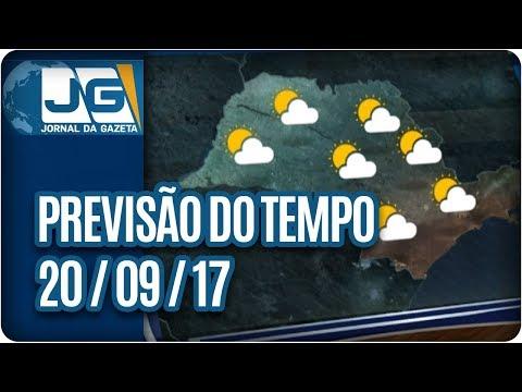 Previsão do Tempo - 20/09/2017