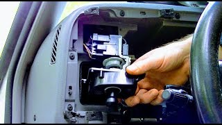 HOW TO REPAIR HEADLIGHT SWITCH DETAIL DODGE RAM+REMOVE DASHBOARD PANEL+MULTIFUNCTION PIGTAIL REPLACE