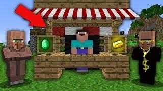 Minecraft NOOB vs PRO : NOOB OPENED STORE SUPER ITEMS IN VILLAGE! Challenge 100% trolling