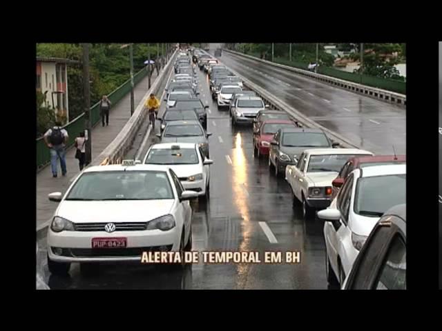 Defesa Civil alerta para chuva forte até quinta-feira em BH