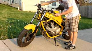1995 Yamaha Seca II - Naked Conversion (Exhaust Test)