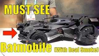 Justice League Elite-Tek Batmobile New for 2017, with REAL SMOKE