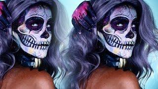 Halloween Look | Electric Paint Splatter Skelton