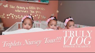 Triplets Nursery Tour VLOG - Check it OUT!!!