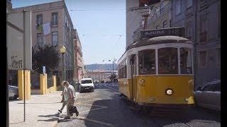 Portugal, Lisbon tram 18 ride from Cç. da Tapada to Cemitério Ajuda