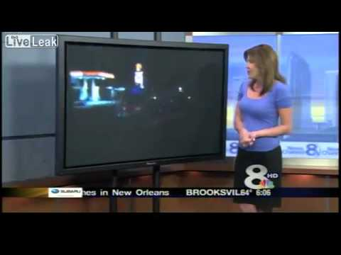 Car Crash during Live News