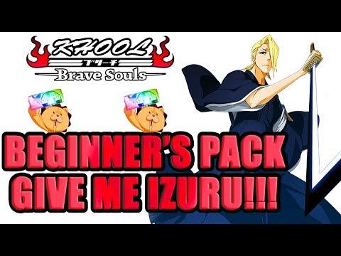 🍀🍀BEGINNER'S PACK SUMMONS - CAN WE GET IZURU? 🍀🍀Bleach Brave Souls
