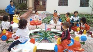 Đi Mẫu Giáo Bé Chơi: Đu Quay, Cầu Trượt, Xếp Hình, Nhà Bóng ❤ Trò Chơi Trẻ Em ❤ Kindergarten