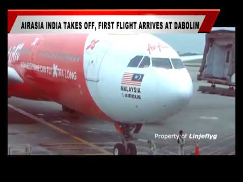AIR ASIA INDIA TAKES OFF, FIRST FLIGHT ARRIVES AT DABOLIM