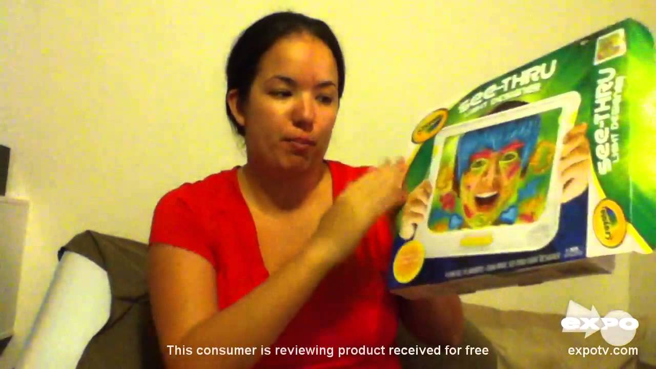 Crayola See Thru Light Designer Review Pretty Cool Drawing Toy Youtube
