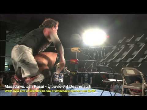 CLIP: Masada vs. Jun Kasai - Ultraviolent Deathmatch from CZW LIVE at WrestleCon 4/5/13