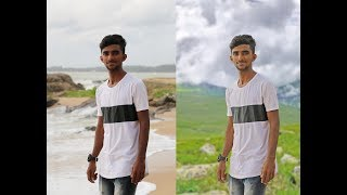 Photoshop Tutorial How To Change Background| How to remove background in தமிழ்