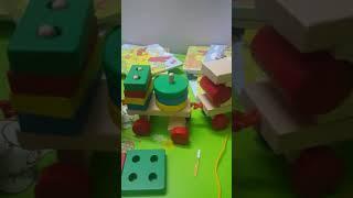 xếp hình đoàn tàu,  đồ chơi gỗ thông minh kidstoys 093 2242 619