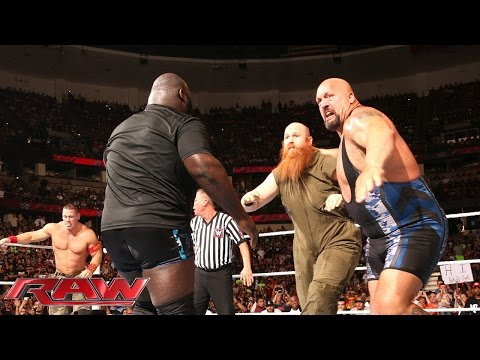 John Cena, Big Show & Mark Henry Vs. The Wyatt Family: Raw, Aug. 25, 2014 video