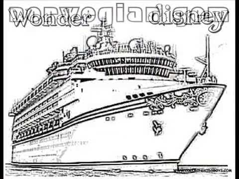 ColoringBuddyMike Cruise Ships Coloring Pages YouTube