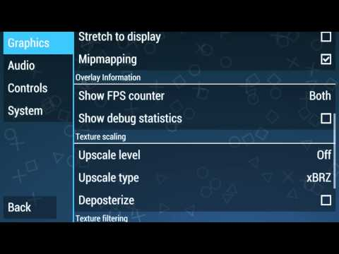 My settings for PPSSPP 0.9.1 (Best Performance)