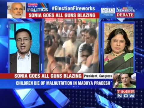 The Newshour Debate: It's now Sonia Gandhi vs Narendra Modi - Full Debate