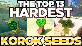 Top 13 HARDEST Korok Seeds In Breath of the Wild! | Austin John Plays