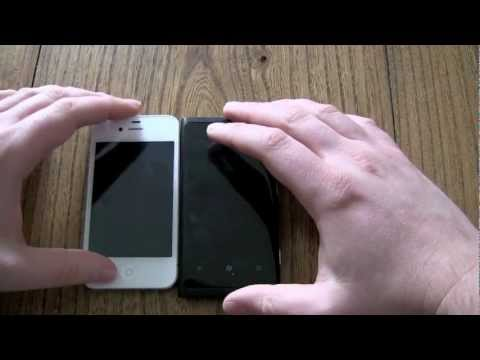 Apple iPhone 4S vs Nokia Lumia 800 Test and Hands on